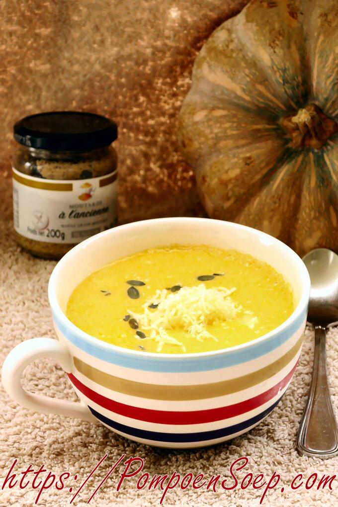 Makkelijke pompoensoep maken met nosterd en kaas