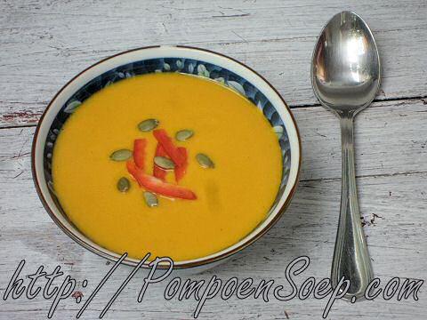 Pompoensoep met paprika