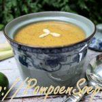 Pompoensoep met citroengras en gember