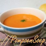 Pompoensoep met tomaten